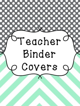 Teacher Binder Covers and Spines EDITABLE {Chevron black a