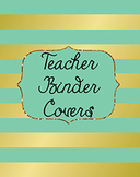 Binder Covers, dividers and Spines EDITABLE {Foil gold and green}