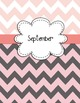 Teacher Binder Covers EDITABLE for Light Pinks/Grays Chevron Back to School