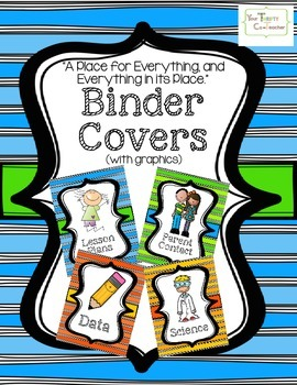 Teacher Binder Covers (with graphics)