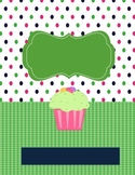 Teacher Binder Cupcake Theme Editable
