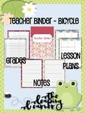Teacher Binder - Cute Bicycle