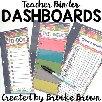 Teacher Binder Dashboards {Color Me Happy}