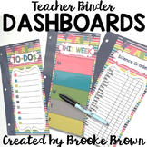 Teacher Binder Dashboards {Color Me Happy}