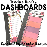 Teacher Binder Dashboards {Watercolor Stripes}