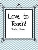 Teacher Binder: Divider Sheets