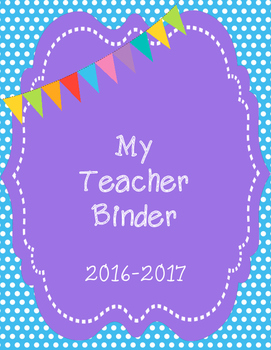 Teacher Binder Dividers