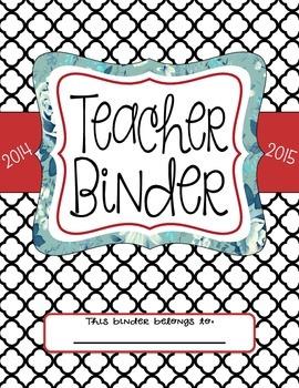Teacher Binder Dividers (Black)