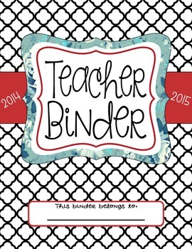 Teacher Binder Dividers (Black)