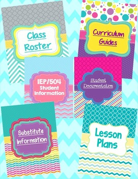 Teacher Binder Dividers-Bright, Fun Designs