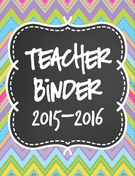 Teacher Binder Dividers-Chalkboard Theme