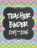 Teacher Binder Dividers-Chalkboard Theme