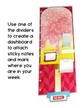 Teacher Binder Dividers Customizable Sizes Icy Cream