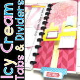 Teacher Binder Dividers Customizable Sizes Icy Cream
