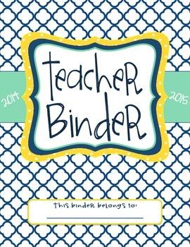 Teacher Binder Dividers (Navy)