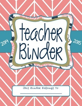 Teacher Binder Dividers (Pink)