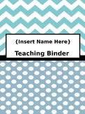 Teacher Binder Dividers and Templates