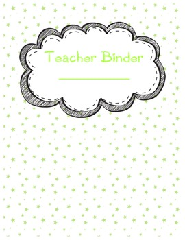 Teacher Binder Dividers+ in Lime Stars