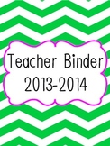 Teacher Binder Dividers (with Daily 5)