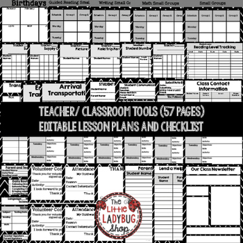 Editable Teacher Binder Editable & Editable Teacher Planner