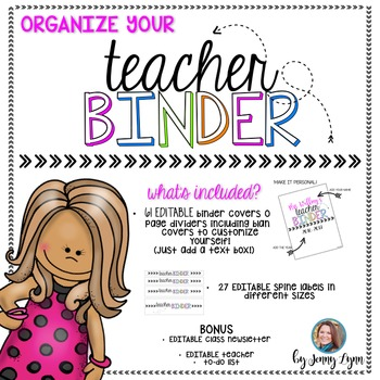Teacher Binder EDITABLE Covers and Spines!
