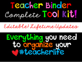 Teacher Binder! EDITABLE! Updates for Life! Growing Bundle! Beautiful Designs!