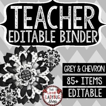 Editable Teacher Binder & Editable Teacher Planner