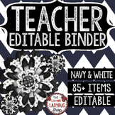 Editable Teacher Binder & Editable Teacher Planner