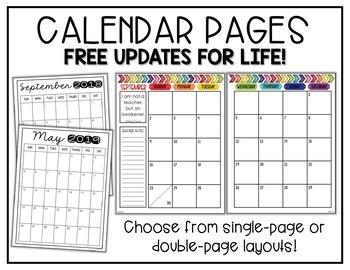 Teacher Binder: EDITABLE Yearly Planner, Gradebook, Logs, Calendar, Forms