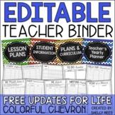 Teacher Planner 2018-2019 EDITABLE Teacher Binder FREE Upd