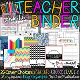 TEACHER BINDER EASY TO EDIT AND INK FRIENDLY