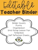 Teacher Binder **Editable**