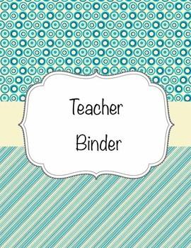 Teacher Binder Editable