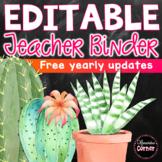 Teacher Binder Cactus Theme