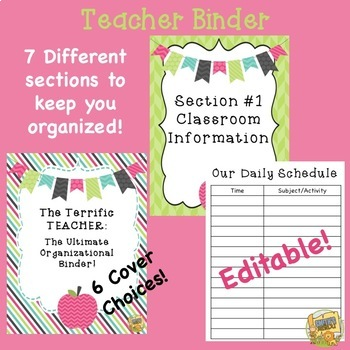 Teacher Binder - Editable!  Be organized all YEAR LONG!