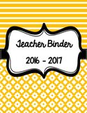 Teacher Binder - Editable Organization