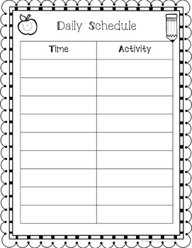 Teacher Binder - Editable Organization Forms