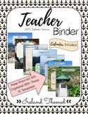 Teacher Binder (Editable Version)