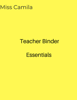 Teacher Binder Essentials