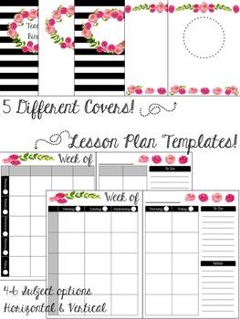 Teacher Binder - Floral Design - Free Updates!