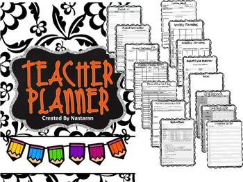Editable Teacher Binder {Floral}