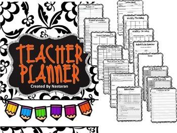 Editable Teacher Binder {Floral}
