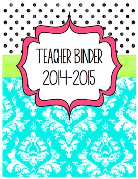 Back to School Teacher Binder & Forms