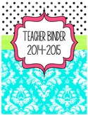 Back to School Teacher Binder & Forms