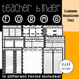 Teacher Binder: Forms (B&W)
