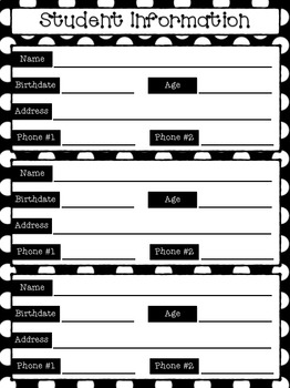 Teacher Binder: Forms (B&W)