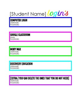 Teacher Binder / Forms on Google Docs