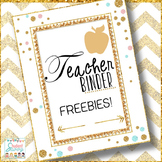 Teacher Binder Free
