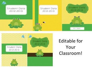Teacher Binder - Frog Editable