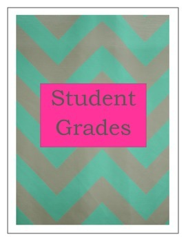 Gradebook- Shades of Turquoise (2 cover variations)